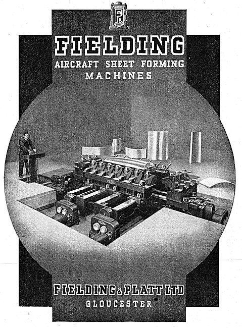Fielding & Platt. Sheet Metal Forming Machines. 1942 Advert
