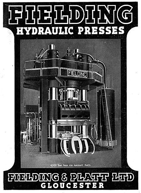 Fielding & Platt Hydraulic Presses 1943