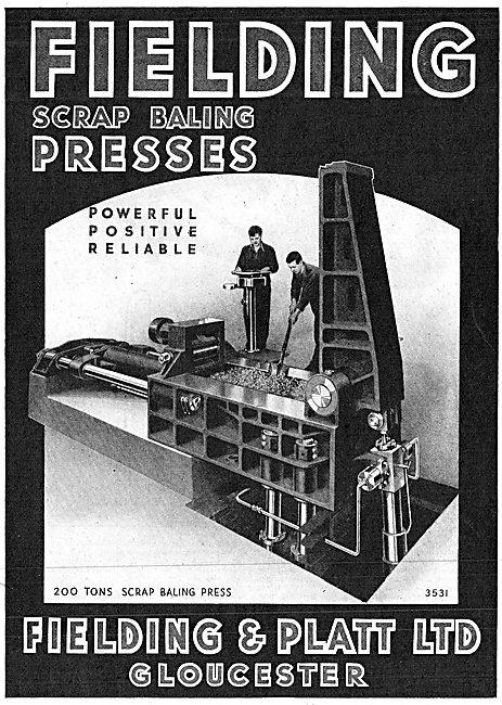 Fielding & Platt Scrap baling Presses 1943