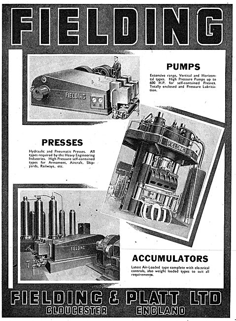Fielding & Platt Industrial Pumpas & Presses