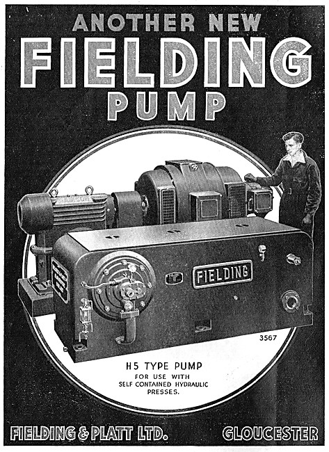 Fielding & Platt H5 Type Pump For Hydraulic Presses