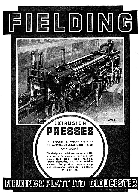 Fielding & Platt Extrusion Presses
