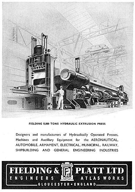 Fielding & Platt Ltd: - Manufacturers Of Hydraulic Presses