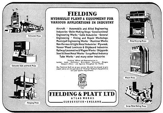 Fielding & Platt Ltd: Gloucester. - Hydraulic Plant & Equipment