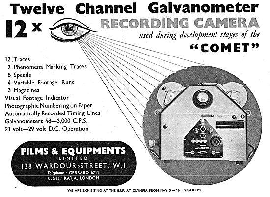 Flims & Equipment Ltd - 12 Channel Recording Galvanometer