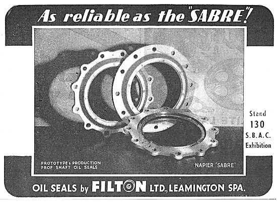 Filton Ltd  Oil Seals Used In The Napier Sabre Aero Engine