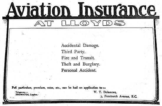 W.T.Dolamore. Aviation Insurance