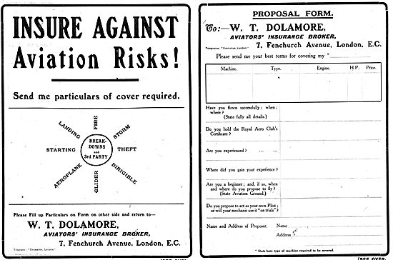 W.T.Dolamore. Aviation Insurance Risks
