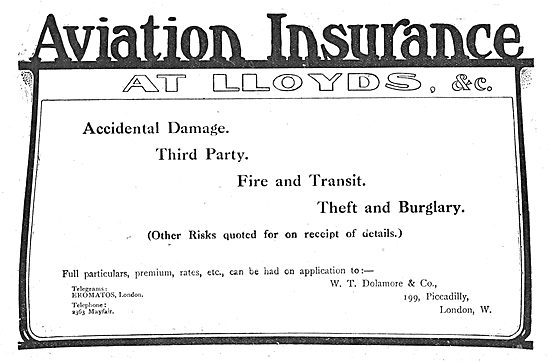 W.T.Dolamore & Co Aviation Insurance At Lloyds