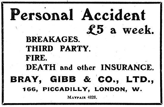 Bray Gibb & Co Ltd Aeroplane & Personal Insurance