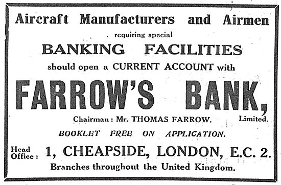 Aircraft Manufacturers & Airmen Should Use Farrow's Bank