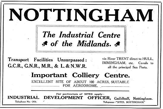 Nottingham Industrial Development Office - Invest In Notts. 1918