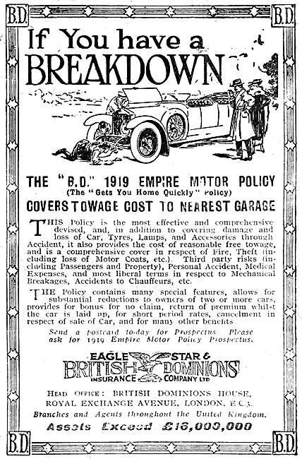 Eagle Start & British Dominions Insurance Company 1919