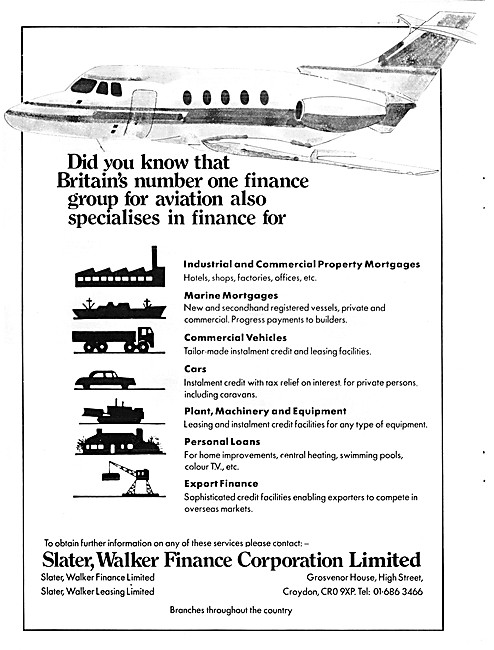 Salter, Walker Finance Corporation. Aircraft Finance