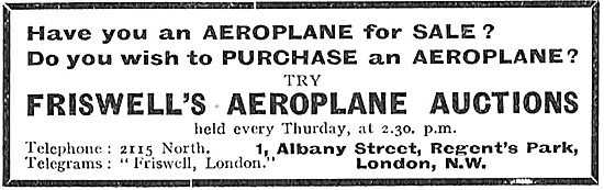 Buying Or Selling An Aeroplane - Contact Friswell's Aeroplane Auc