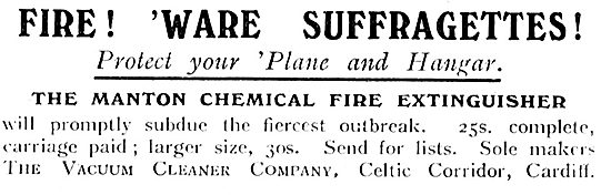 Protect Your Aeroplane Against Fire & Suffragettes.
