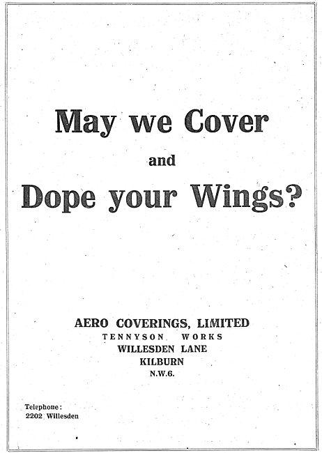 Aero Coverings. Aircraft Wing Coverings & Doping. Kilburn