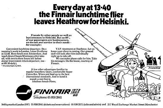 Finnair - Heathrow To Helsinki. The Lunchtime Flier