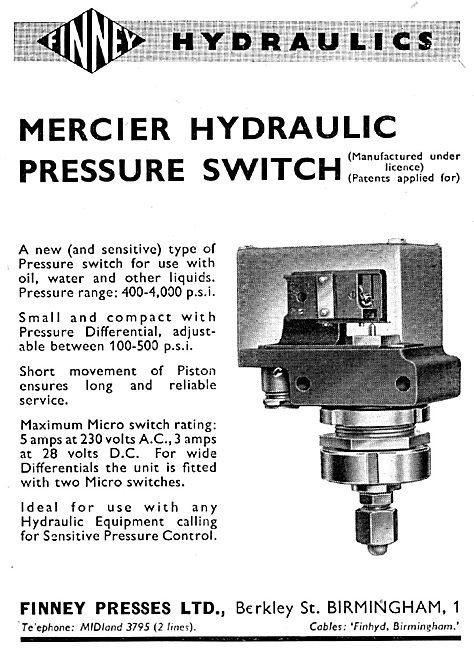 Finney Presses Mercier Hydraulic Pressure Switch
