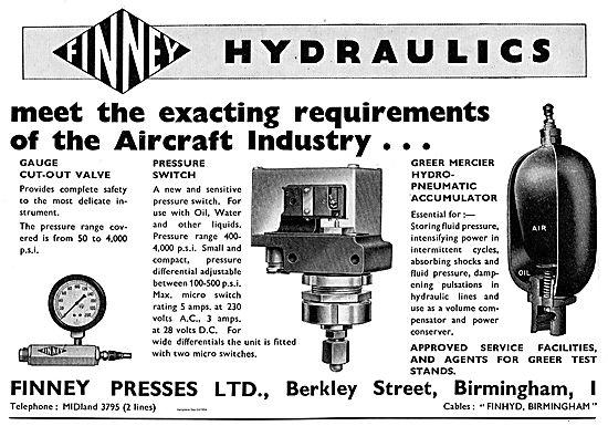 Finney Hydraulics. Greer Mercier Hydro Pneumatic Accumulator