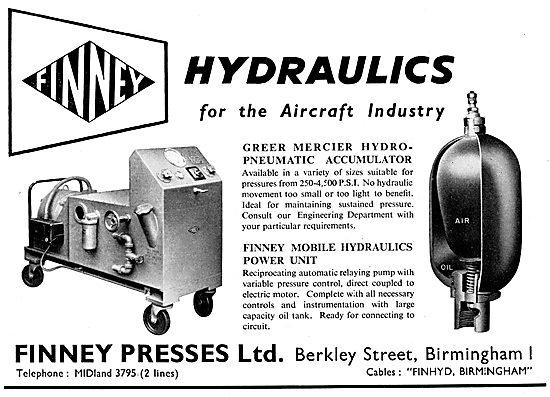 Finney Presses Greer Mercier Hydro-Pneumatic Accumulator