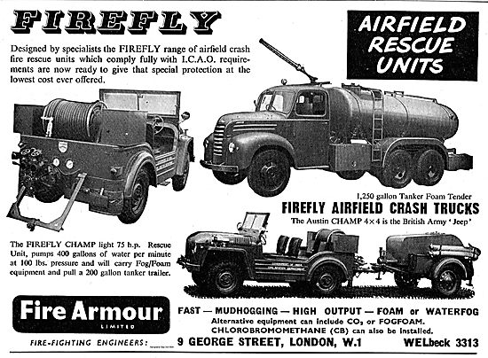 Fire Armour Firefly Airfield Crash Rescue Units.