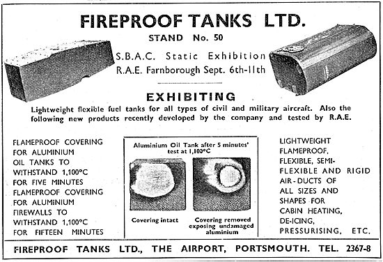 Fireproof Tanks. Flexible Fuel Tanks For Aircraft