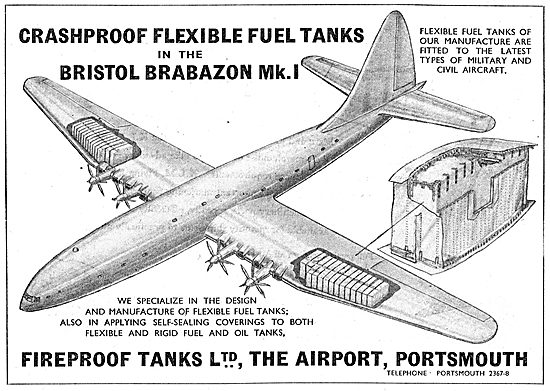 Fireproof Tanks. Flexible Self-Sealing Fuel Tanks For Aircraft