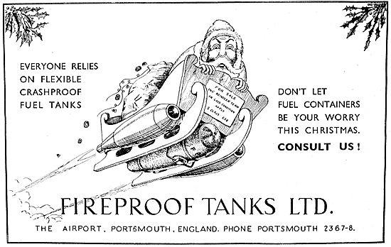 Fireproof Tanks Ltd. Christmas Greetings 1950