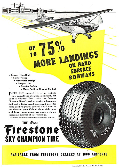 Firestone Sky Champion Tyres & Aircraft Accessories