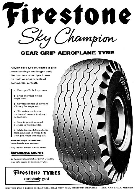 Firestone Sky Champion Aircraft Tyres