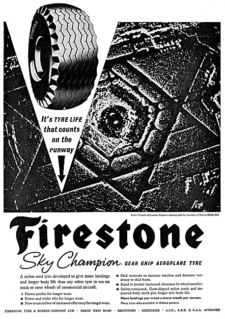 Firestone Aircraft Tyres 1959