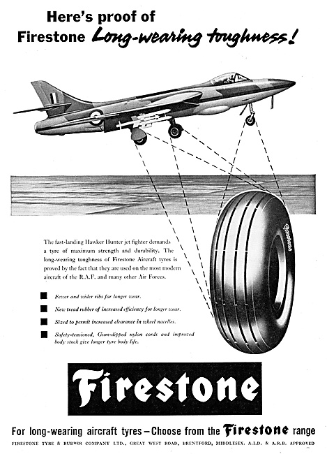 Firestone Aircraft Tyres 1960