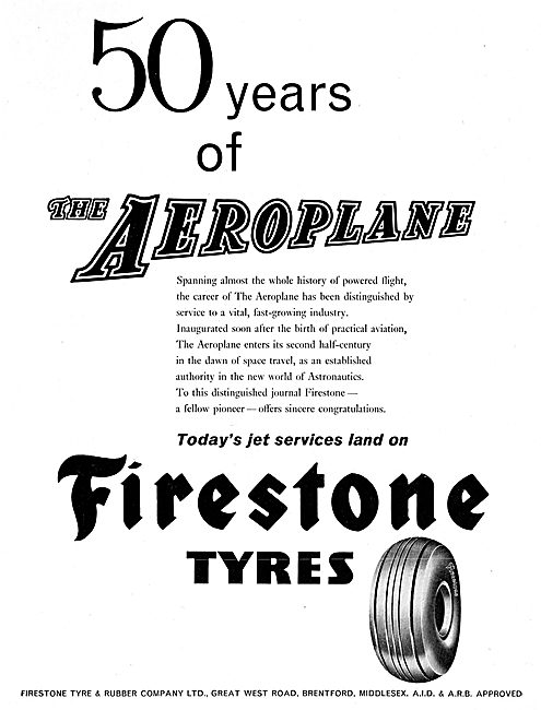 Firestone Tyres Congratulate The Aeroplane On 50 Years