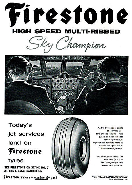 Firestone Sky Champion Tyres For Jet Airliners