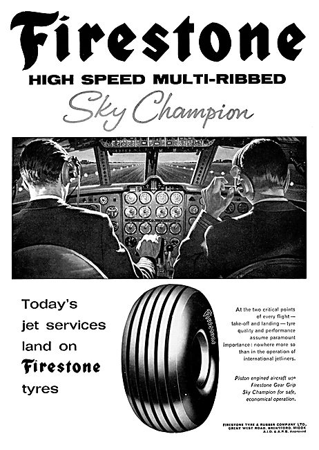 Firestone Sky Champion Aircraft Tyres 1965