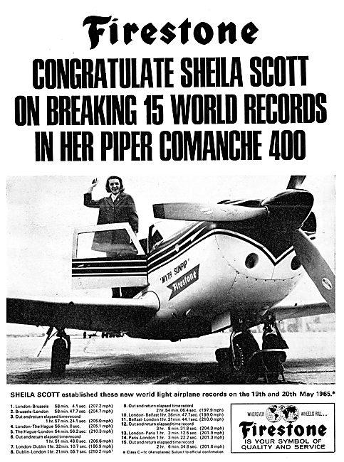 Firestone Congratulates Sheila Scott 1965