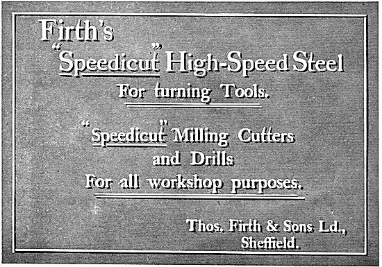 Thos Firth Speedicut High-Speed Steel Turning Cutters & Drills