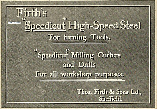 Firths Speedicut High Speed Steel