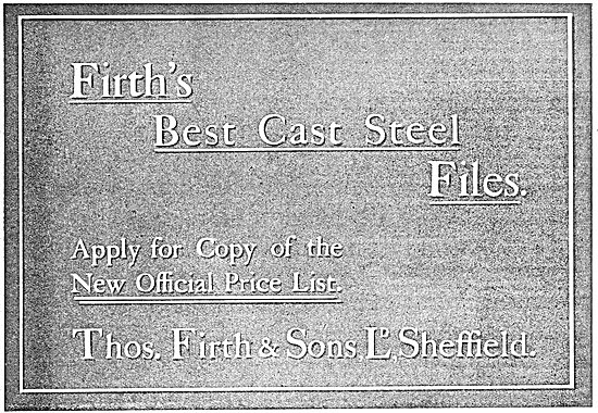 Thos Firth & Sons Cast Steels