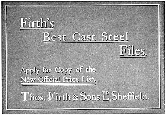 Firths Cast Steel Files 1917