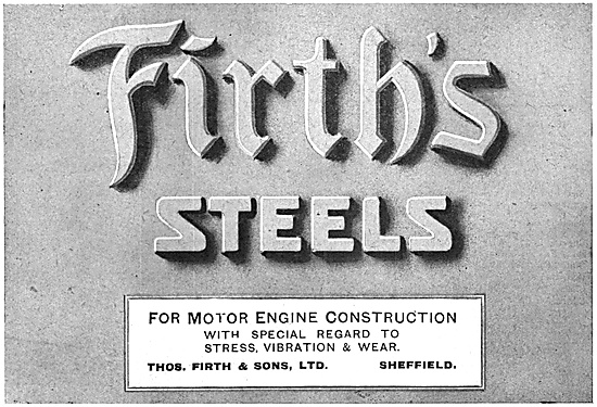 Firth's Aircraft Steels 1918
