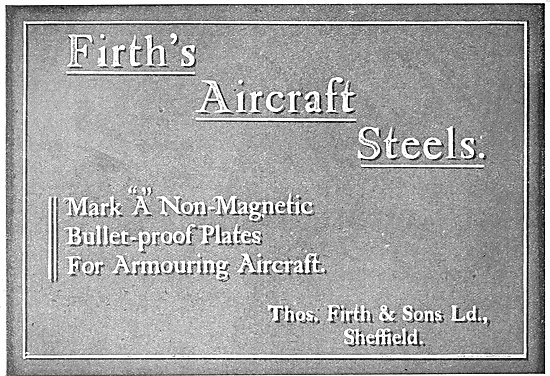 Thos Firth & Sons Aircraft Steel 1918