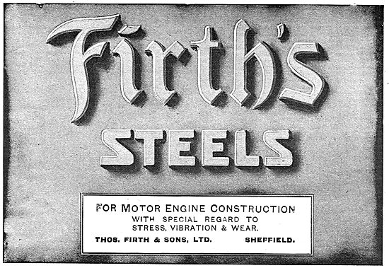 Firth's Steels For Motor Engine Construction
