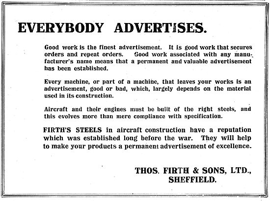 Thos Firth & Sons Ltd Sheffield - Stainelss Steel