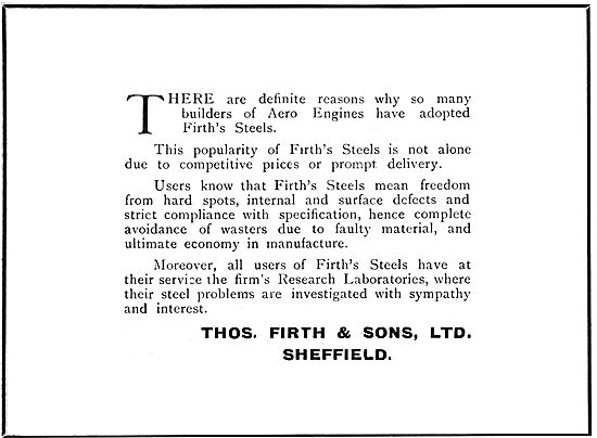 Thos Firth & Sons - Firth's Steels