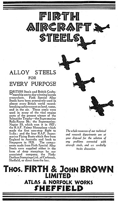 Firth Brown Aircraft Steels