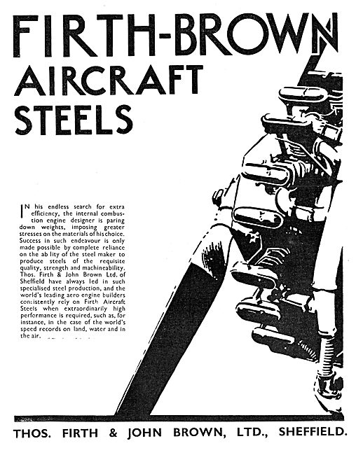 Firth Brown Aircraft Steels 1932