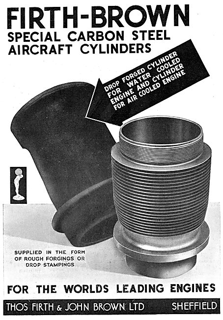 Firth Brown Carbon Steel Aircraft Cylinders