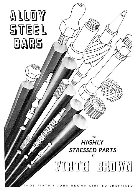 Firth Brown Alloy Steel Bars 1954